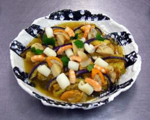 湯葉豆腐-和風海鮮餡かけ